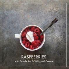 Raspberries with Framboise & Whipped Cream // shutterbean