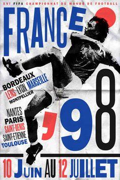 Coupe de Monde 1998 Affiche. Football n'est pas populaire en États Unis. #Soccer
