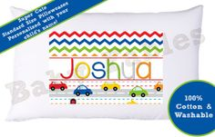 Personalized Pillowcase - Little Zoom on Etsy, $12.50
