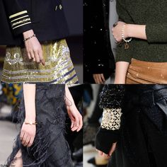 """The """"it"""" Trendy Jewelry style for FW 2016: Pearl Adorn Bracelet. Tommy Hilfiger, Topshop Unique, Jason Wu, and Chanel Fall Winter 2016."""