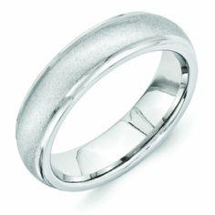 Vitalium Stone Finish Center Grooved Polished Edge 6mm Wedding Band Types Of Rings Rose Jewelry