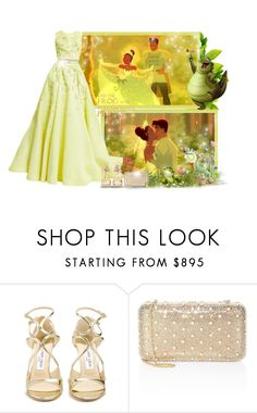 """The princess and the frog! - Contest!"" by asia-12 ❤ liked on Polyvore featuring Zuhair Murad, Jimmy Choo, Judith Leiber and Ippolita"