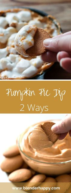 Pumpkin Pie Dip made 2 ways: equally good made hot or cold.  Impress your guests…