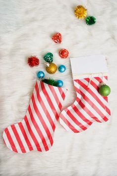 These DIY Santa Stocking Party Favors are Fun and Easy to Make #holiday #stockings trendhunter.com