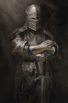 Fantasy Armor, Fantasy Weapons, Medieval Fantasy, Dark Fantasy, Dragon Knight, Knight Art, Knight Tattoo, Warrior Tattoos, Armadura Medieval