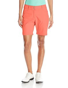adidas Golf Womens Essential Shorts 7 Shorts Shock Red Size 8 *** Continue to the product at the image link.
