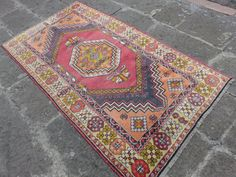 ANATOLIA Rug Pastel ColorFul RUG All Wool Vintage Rug by AntikaArt