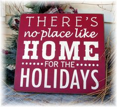 There's no place like home for the Holidays Christmas wood sign on Etsy, $22.00