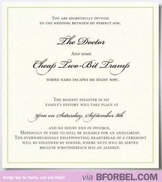 Mother-In-Law Hates The Woman Her Son Is Marrying And Sends Out This Invitation For Their Wedding…
