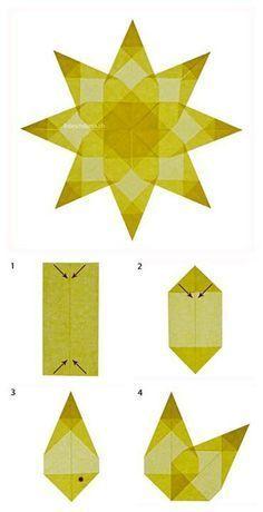 Advent craft made easy - Origami İdeas Origami Stars, Diy Origami, Origami Paper, Diy Paper, Paper Crafts, Origami Ideas, Origami Design, Tissue Paper, Kirigami