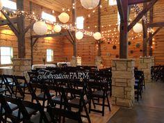 This indoor #barnwedding looks beautiful in the #timberframebarn!  @celebrationfarm #celebrationfarm #thecelebrationfarm #iowawedding #iowacity #pink #wedding #diywedding  Facebook -https://www.facebook.com/Celebration.Farm Instagram - https://www.instagram.com/celebrationfarm/