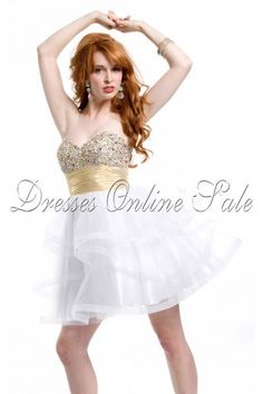 White Princess Sweetheart Short Dress