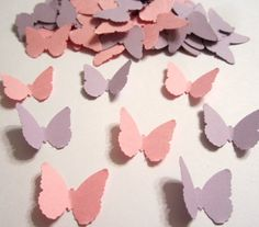 100 Classic Butterfly MIX Purple Lavendar & Light Pink Paper Embellishments Confetti Birthday Party Decorations Favor on Etsy, $2.50