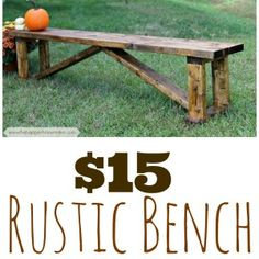$15 DIY Rustic Bench By @Melissa Squires Squires Keep Calm and Decorate