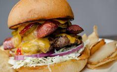 A burger from Bayou Burger  Sports Company New Orleans #burger #hamburger