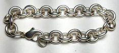 "ESTATE STERLING SILVER TIFFANY & CO. BRACELET-925-T&CO 7 1/2"" FREE USA SHIP #TiffanyCo #Chain"
