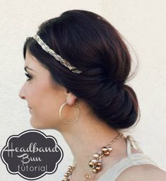 Headband Bun Hair Tutorial