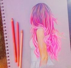 """Find and save images from the """"AMAZING art"""" collection by Kayla Lamarche (Kayla_lamarche) on We Heart It, your everyday app to get lost in what you love. Pencil Art Drawings, Art Drawings Sketches, Cute Drawings, Amazing Drawings, Beautiful Drawings, Amazing Art, Hair Sketch, Color Pencil Art, How To Draw Hair"""