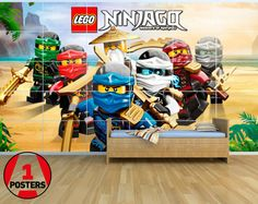 New  Lego Ninjago NN06  Giant Wall Art Set  2.5m x by a1posters