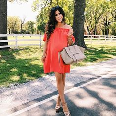 Been on a major  kick... this dress comes in like 7 different bright colors and is super good quality for the price! I've been wearing it quite a bit bc it's comfy but still cute! Details: http://liketk.it/2r0dw #liketkit @liketoknow.it #orange #ootd #wiw #celine #spring #instafashion #igfashion #outfitoftheday #lookoftheday