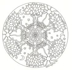 Celtic Mandala Coloring Pages - Bing Images Mandala Coloring Pages, Coloring Book Pages, Celtic Mandala, Mandalas Painting, Celtic Tree Of Life, Zentangle Patterns, Zentangles, Celtic Designs, Colorful Pictures