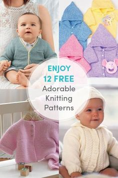 Your Source for HandmadeTutorial (Crochet Knitting Quilting) Baby Boy Knitting Patterns Free, Baby Sweater Knitting Pattern, Knit Baby Sweaters, Knitted Baby Clothes, Knitting For Kids, Loom Knitting, Baby Patterns, Knitting Projects, Baby Set