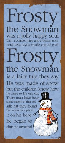 *FROST...the snowman...