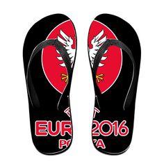 MY LORD Women's Or Men's Unisex UEFA France 2016Polska Football Team Flip Flops >>> Visit the image link more details.