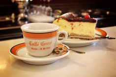 Italy - Rome, Caffè Greco, #gununkahvesi cheese cake & espresso