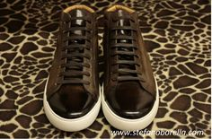 Dress With Sneakers, High Top Sneakers, Monet, Sporty, Brown, Leather, Shoes, Shoes Outlet, Shoe
