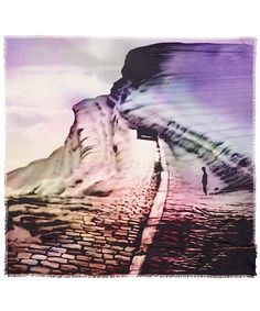Mary Katrantzou Pink Landscape Print Scarf | Scarves by Mary Katrantzou | Liberty.co.uk