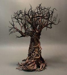 Eyes in the trees forest monkey original OOAK by creaturesfromel