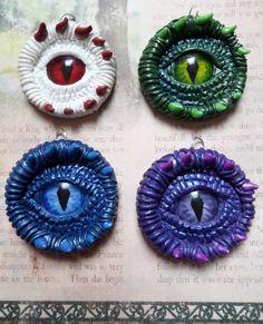 Mystical Purple Dragon eye pendant handmade from by AurorasLocket