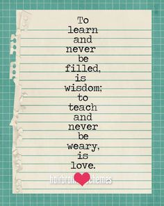 Teaching is Love original by hairbrainedschemes. via Etsy.