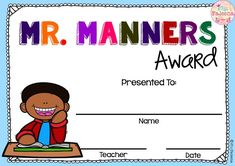 These are FREE samples from my End of The Year Awards.  These awards are perfect to celebrate the unique traits of each of your students and their accomplishments. Available in Powerpoint version that allows you to type your name and your student's name directly onto the awards. I also add the pdf files in this product.  Kindergarten | Elementary | Classroom Management | End of the Year| End of the Year Awards| Printables | English Language Arts  | Mr. Manners Awards