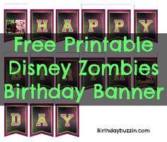 Birthday Banner Template, Happy Birthday Banners, Free Birthday, Boy Birthday, Birthday Presents, Zombie Themed Party, Zombie Birthday Parties, Birthday Party Themes, Birthday Ideas