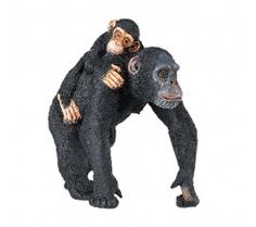 Mother Chimpanzee with Baby; love this gentle sand tray figurine