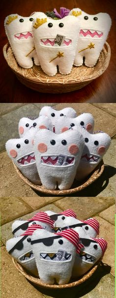 Wool Felt Tooth Fairy Pillows |  Midnight Mouse Designs