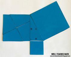 Perigal's Puzzle: A Pythagorean Theorem Proof Without Words | mrseteachesmath.blogspot.com
