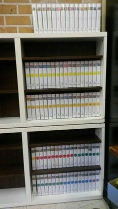 Puzzelkast. Puzzels tot 100 stukken passen perfect in een doos van een videocassette.