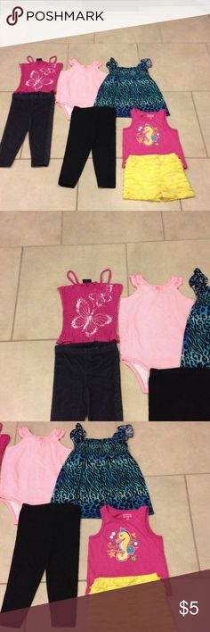 Bundle of 24 months good condition 24 months bundle (3)tops  Garanimal and Carter and Faded glory (2) pants Garanimal and Truly scrumptious short good condition and Kidget sundress Other