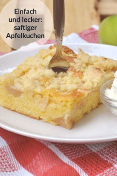 rezept A lightning fast and simple apple pie. All Recipes Brownies, Beef Recipes, Healthy Recipes, Sweet Bakery, Mac And Cheese, Allrecipes, Cornbread, Fudge, Cheesecake