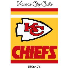 kansas city chiefs, kansas city chiefs blanket, chiefs crochet pattern, chiefs crochet graph, kc chiefs graph pattern, kc chiefs, nfl graph by AngelaBeatley on Etsy