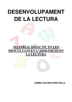 Publishing platform for digital magazines, interactive publications and online catalogs. Convert documents to beautiful publications and share them worldwide. Title: Material estructurat dificultats lectura, Author: Length: 49 pages, Published: Catalan Language, Digital Magazine, English Class, Creative Teaching, Mathematics, Homeschool, Author, Education, College