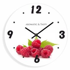 Dizajnové kuchynské hodiny s malinami Ale, Clock, Design, Home Decor, Watch, Decoration Home, Room Decor, Ale Beer
