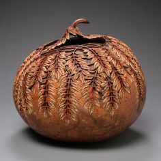 Superbly Awesome Gourd Carving Art by Marilyn Sunderland | Wave Avenue