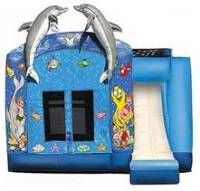 Under the Sea Bounce House for shark theme party or beach party