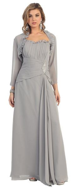 Long Mother of the Bride Dress Jacket Plus Size Modest