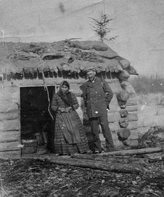 Dogrib woman, Joseph Burr Tyrrell (Geologist), at Ft. Resolution - 1905