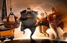 Fat Super Héros par Carlos Dattoli